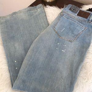 Converse Jeans - Converse Classic flare solar paint splatter wash
